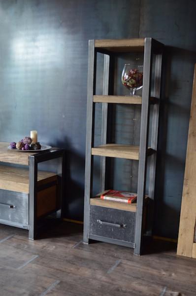 bois vieilli acier de style industriel