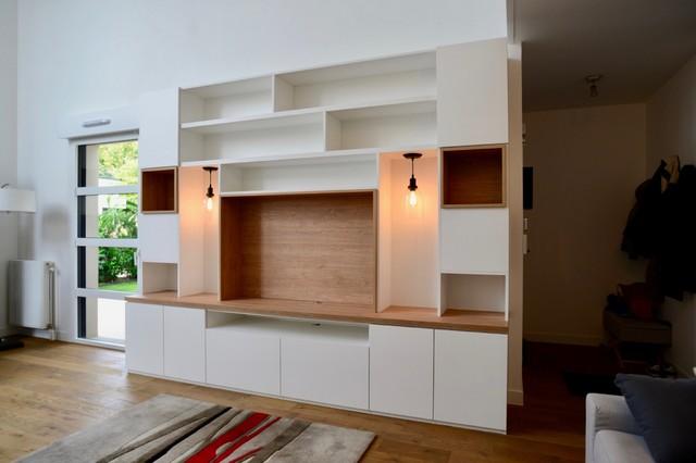 meuble tv sur mesure moderne salon