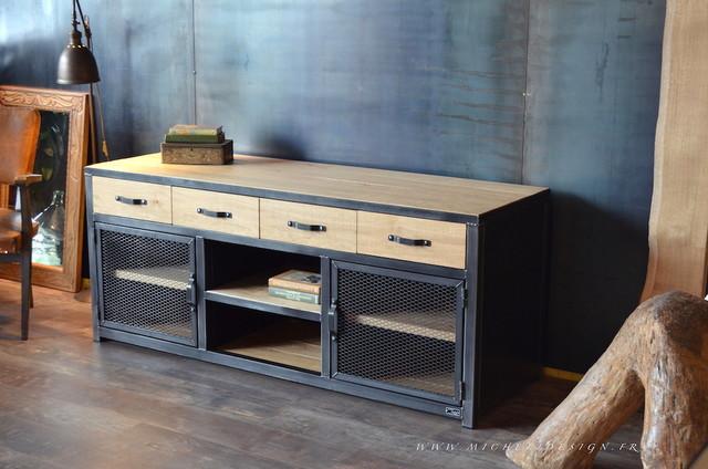 nos meubles tv de style industriel