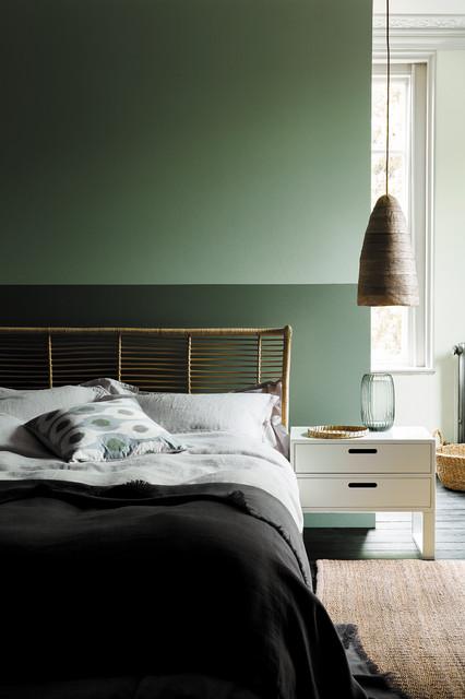 Colori per camera da letto. 9 Pareti Verdi Che Rendono Elegantissima La Camera Da Letto