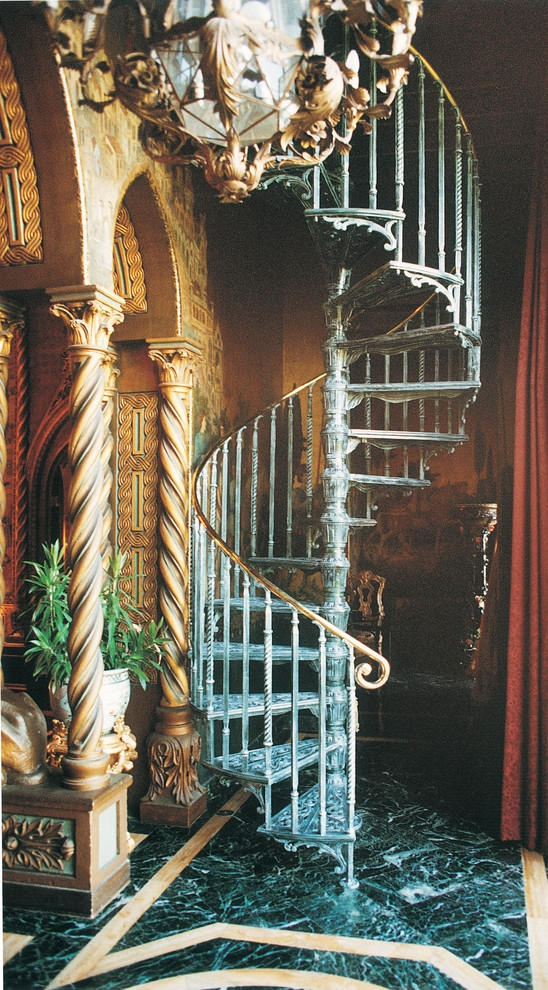 5 Diameter Victorian One Cast Aluminum Kit Victorian | The Iron Shop Stairs | Staircase Kits | Broomall Pennsylvania | Handrail | Lowes | Stair Railing