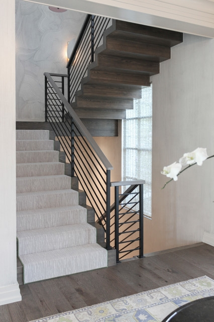 54 Dynamic And Open Wood And Metal Zig Zag Staircase Alexandria   Zig Zag Staircase Design   Stringer   Dual Staircase   Chain Staircase   Sawtooth   Steel
