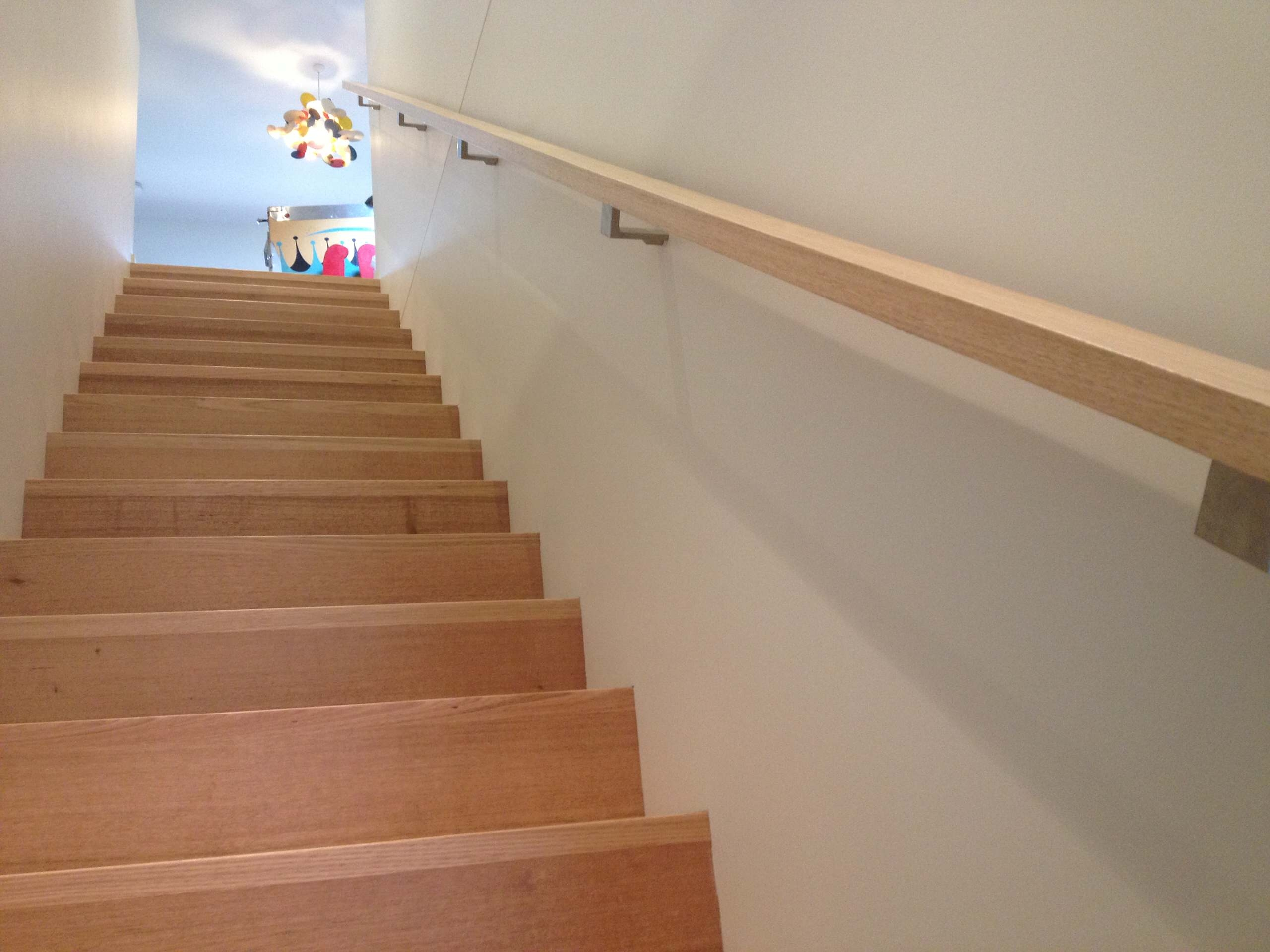 Wall Mounted Handrail Contemporary Houzz | Wall Mounted Handrails Wood | Stair Handrail Bracket | Capozzoli Stairworks | Stair Parts | Wood Staircase Handrail | Wrought Iron