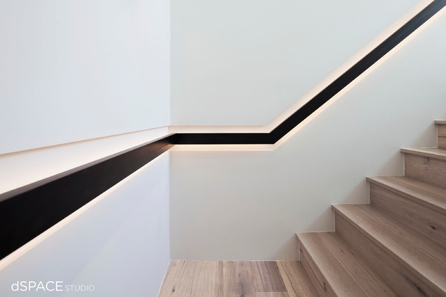 Continious Blackened Steel Handrail Contemporary Staircase   Contemporary Banisters And Handrails   Outdoor Stair   Glass   Picket   Rustic   Traditional
