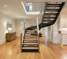 Free standing Blackened steel   Transitional   Staircase ...