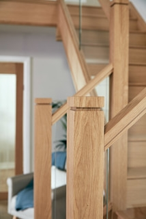 Glass And Oak Staircase Transitional Staircase Manchester | Glass And Oak Banister | Minecraft | Traditional | Stair Case | House | Designer