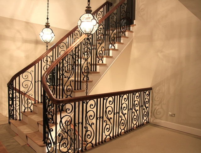 Handrail And Wrought Iron Balustrade Traditional Staircase | Wrought Iron Balustrades And Handrails | Metal | Wrought Ironwork | Design | Mild Steel | Cast Iron