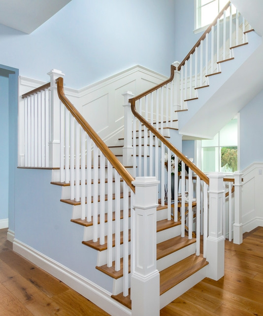 Pacific Palisades Traditional U Shape Traditional Staircase | Pacific Stairs And Railings | Architecture | Wire Mesh | Cad | Casey Brown | Modern Staircase