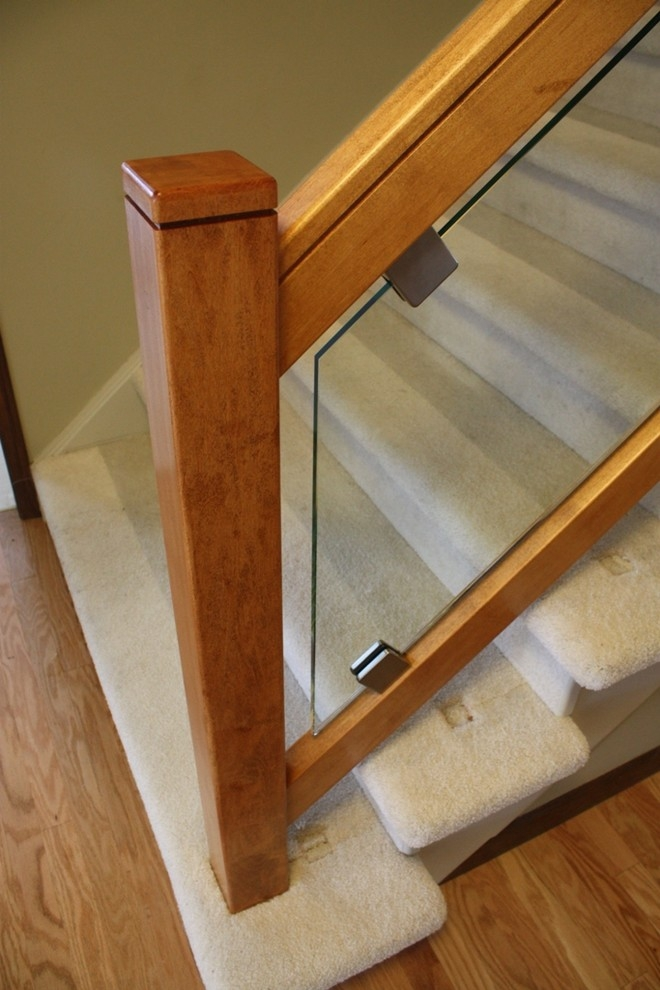 Renovation Maple Prairie Mission Newel Post Contemporary | Modern Newel Post Designs | Contemporary | Maple | Staircase Spindle | Modern Box | Hollow