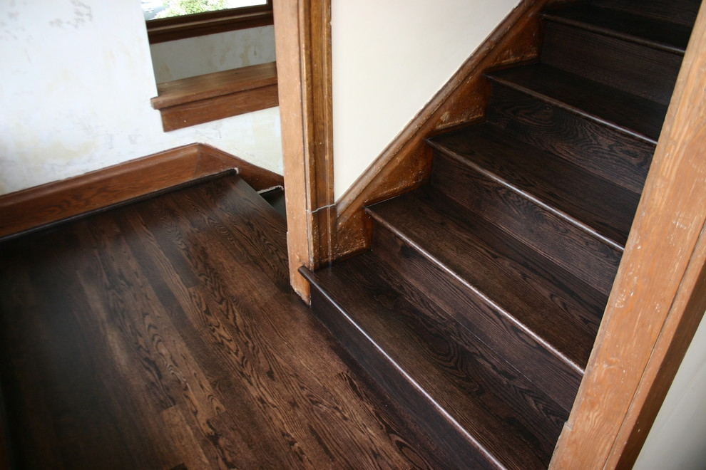 Replacment Old Douglas Fir Steps With Naw Red Oak Treads Risers | European Oak Stair Treads | Basement Stairs | Hardwax Oil | Lumber | Risers | Wood Stair Railing