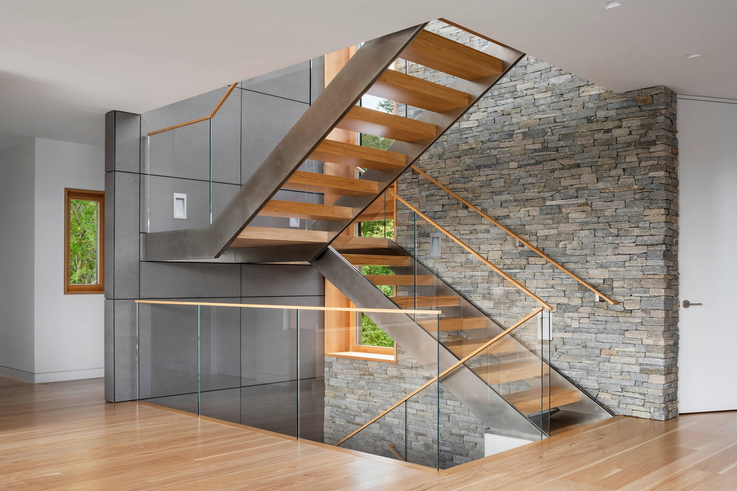 75 Beautiful U Shaped Staircase Pictures Ideas September 2020 | Interior Staircase Design In Main Hall For Duplex House | Residential Stair | Middle Class Village Indian House | View | 16X16 Hall | Beautiful