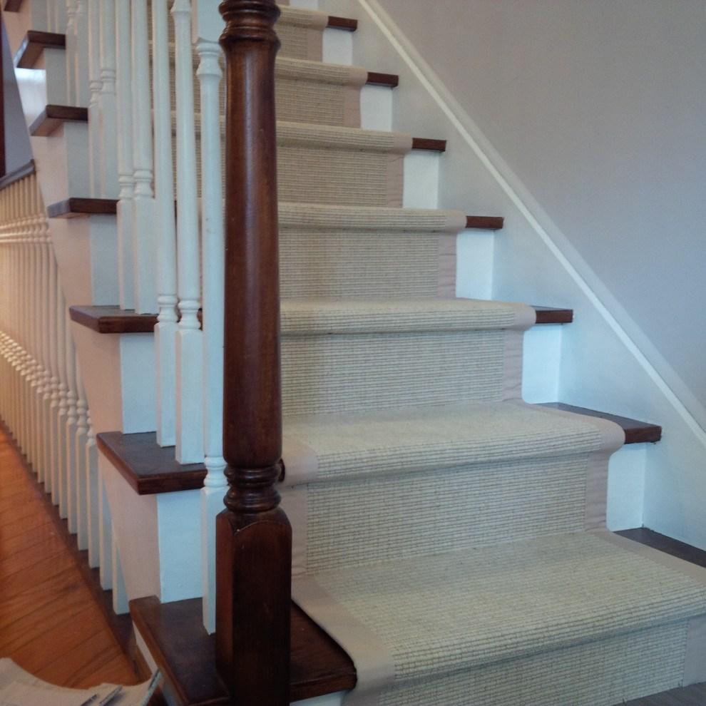 Sisal Carpet Runner For Stairs With Border Traditional | Stair Carpet With Border | Stairway | Design | Stair Runner Matching Landing | Runner | Cream