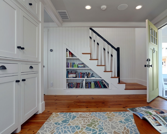 Small Beach House Lives Big Beach Style Staircase Boston | Design Of Stairs In Small House | Living Room | Family House | Interior | Spiral | 4 Foot