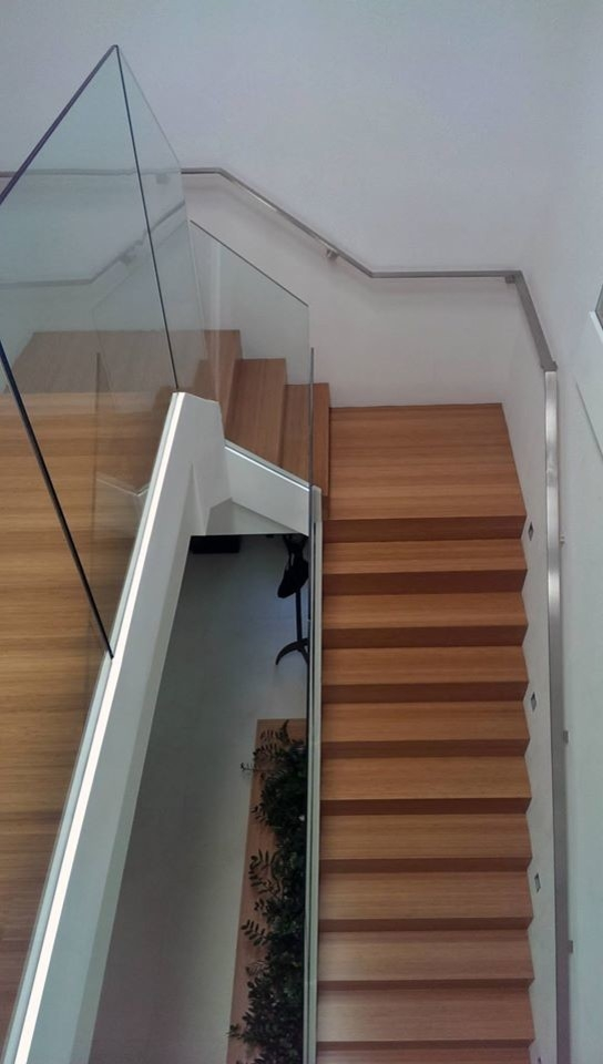 Stainless Steel Flat Bar Handrail Contemporary Staircase   Flat Handrail For Stairs   Code Compliant   Stainless Steel Flat Bar   Type 2   Top   Flat Iron