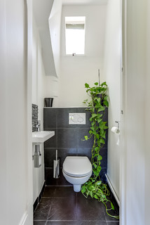 Photos Et Idees Deco De Wc Et Toilettes Avec Un Carrelage Noir Fevrier 2021 Houzz Fr