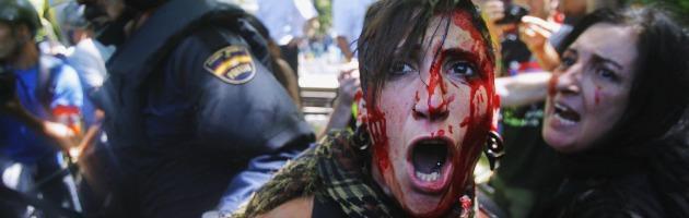 scontri minatori polizia interna