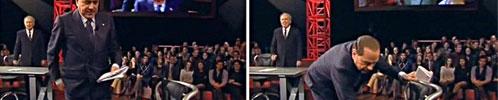 Berlusconi da Santoro, 9 milioni di spettatori Finale di fuoco contro 'Travaglio diffamatore' Riguarda tutti i video di Servizio Pubblico