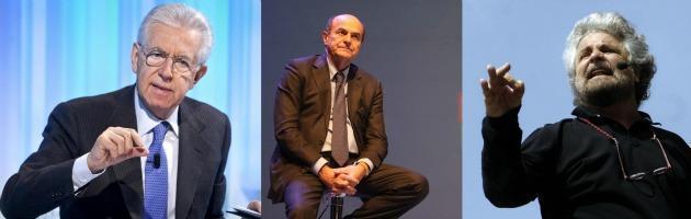 Elezioni, Grillo risale e Monti scende: a Bersani il centro potrebbe non bastare
