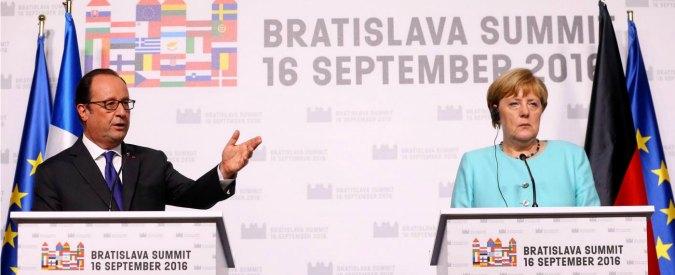 """Bratislava, l'ira di Renzi non invitato al briefing finale di Merkel e Hollande: """"Non condivido le loro conclusioni"""""""
