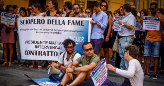 """Income, stop the hunger strike of the four navigators from Campania: """"We are in a serious state of health. But they didn't listen to us """""""
