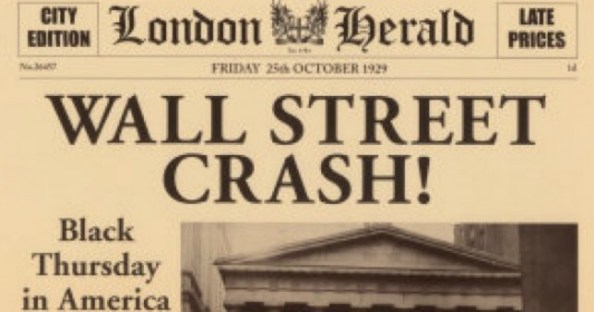 Collapse of Wall Street, the Great began 90 years ago ...