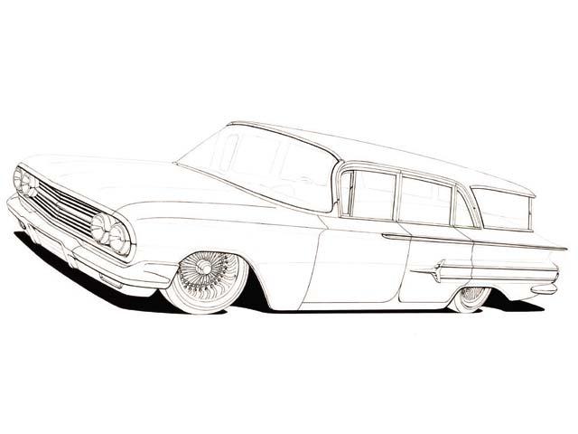 1960 chevy impala 4 door lowrider