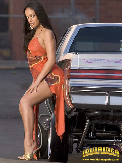 Girl With Wallpaper Dress Lowrider Model Ice Lafox Lowrider Magazine