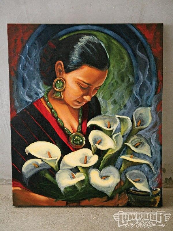 Featured Artist Ricardo Ortega - Painting Mexico' Lowrider Arte Magazine