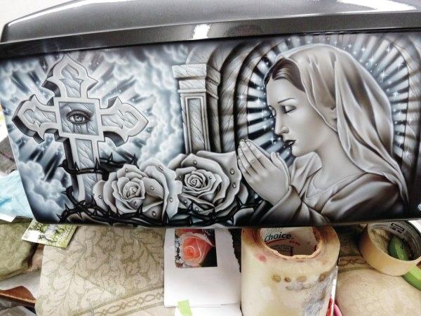 Lowrider Airbrush Art Aztec