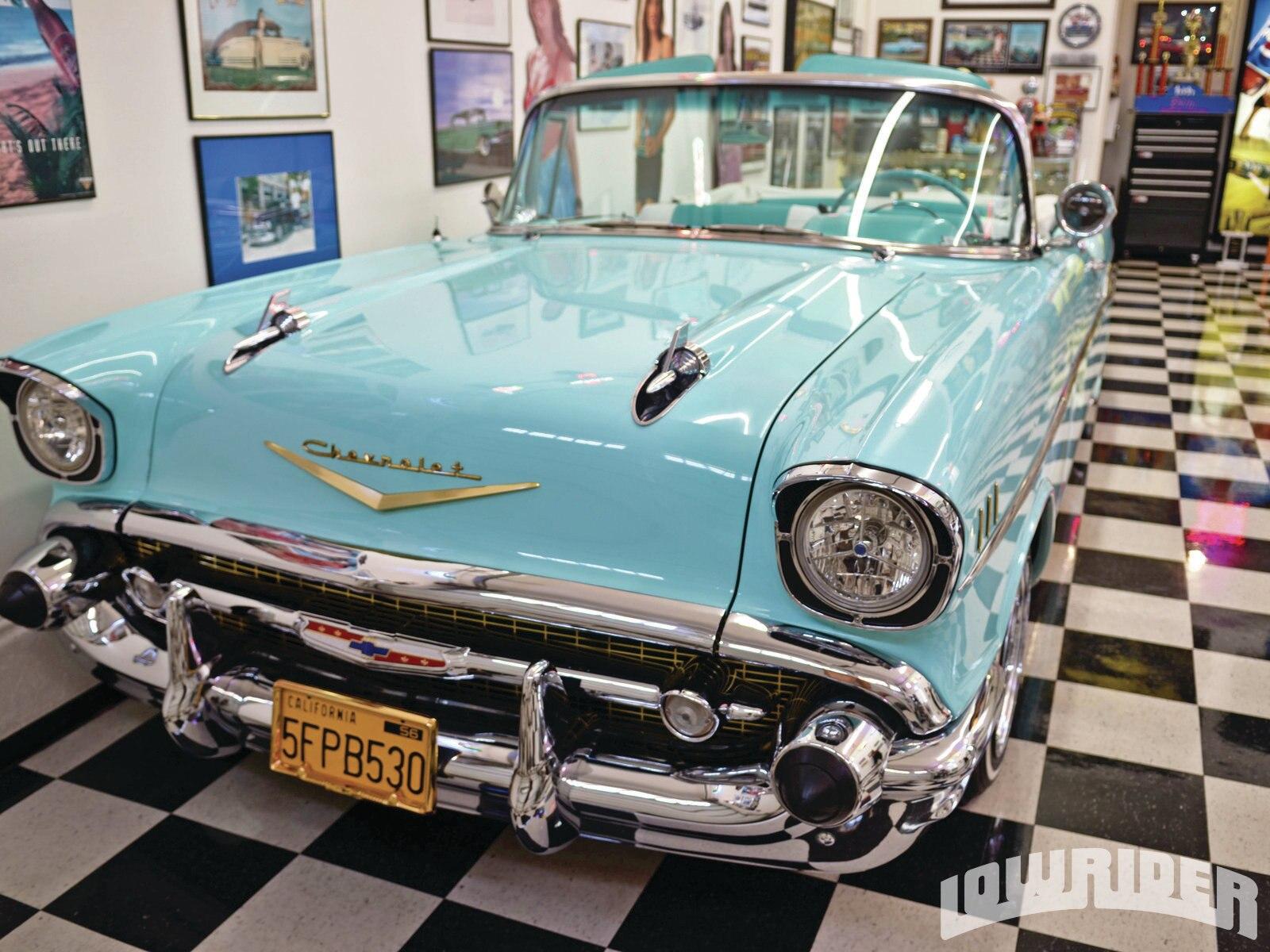 Classic Car Wallpaper 57 Chevy 1957 Chevrolet Bel Air Convertible Lowrider Magazine