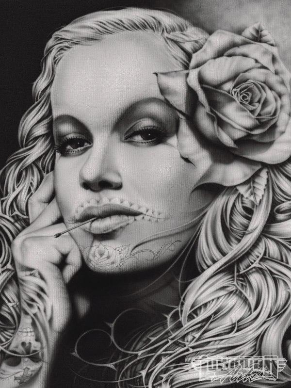Fonzy Airbrush Art Lowrider