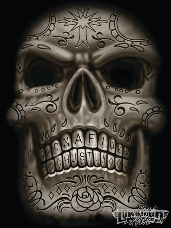 Lowrider Art Drawings Skull