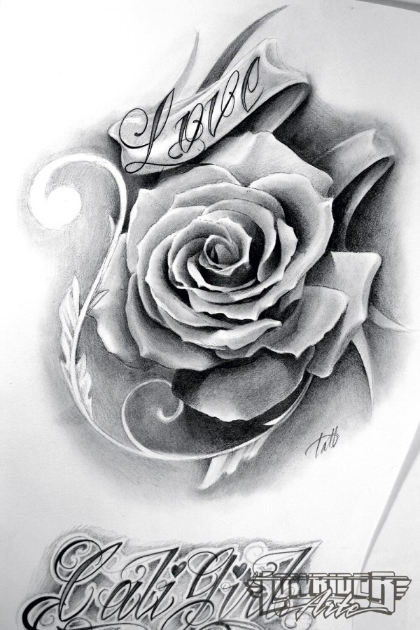 Chicano Rose Tattoo Drawings