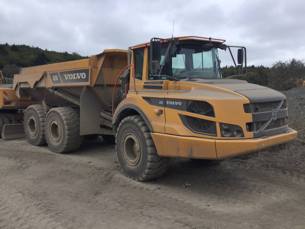 hight resolution of volvo a 25 g articulated dump trucks adts construction
