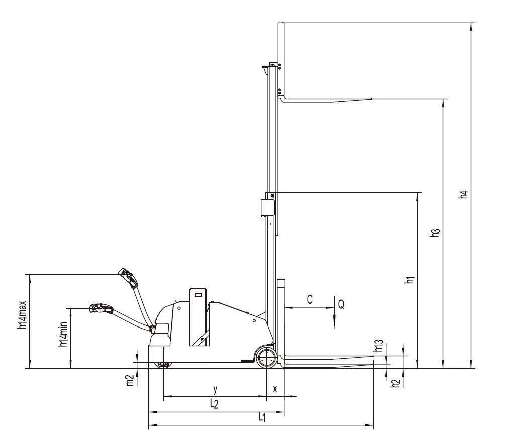 EP ES10-10CA, Año de fabricación: 2018, montacargas manual