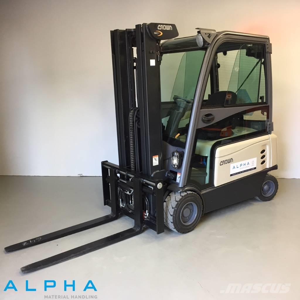 hight resolution of crown scf 6060 2017 electric forklifts
