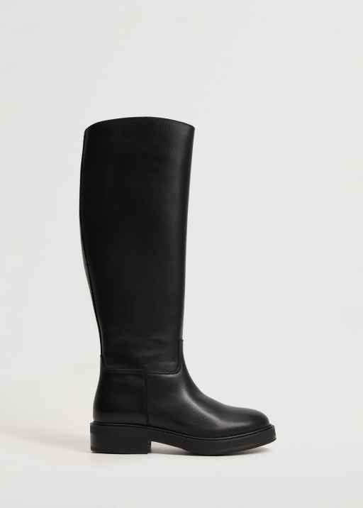 Leather boots with tall leg - Mango