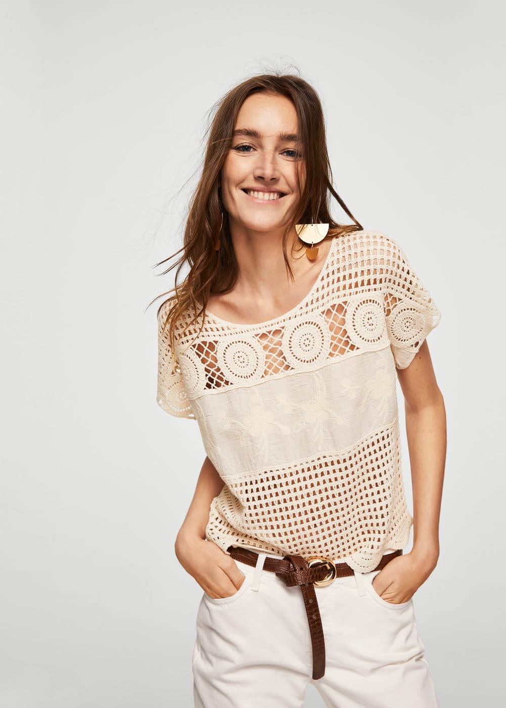 Top détail crochet | MANGO
