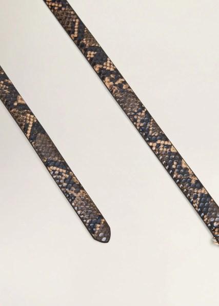 Imitatie slangenleren ceintuur