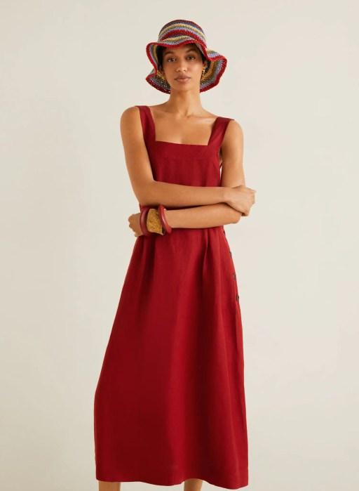 Vestido midi lino