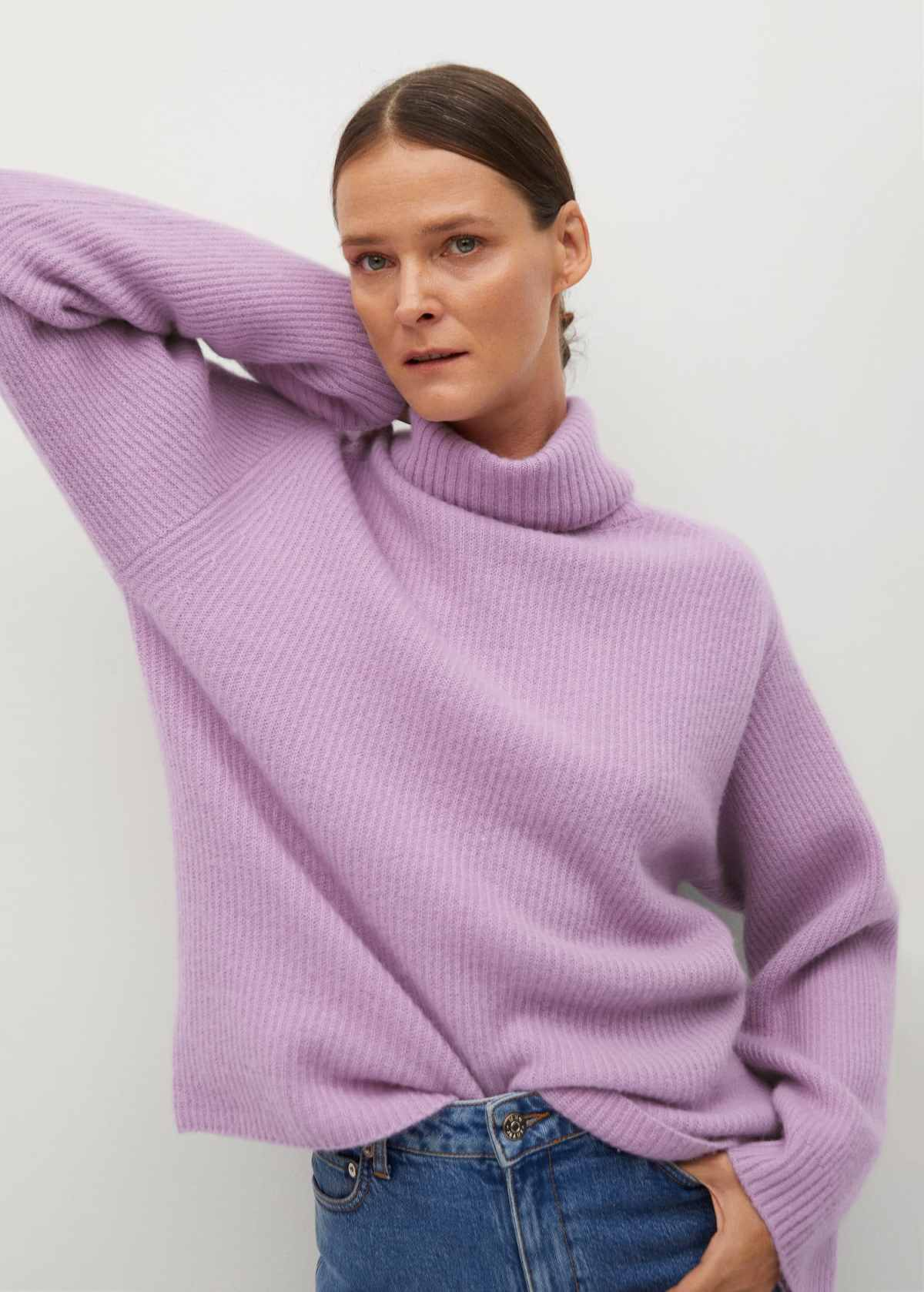 Ribbed cashmere sweater - Medium plane