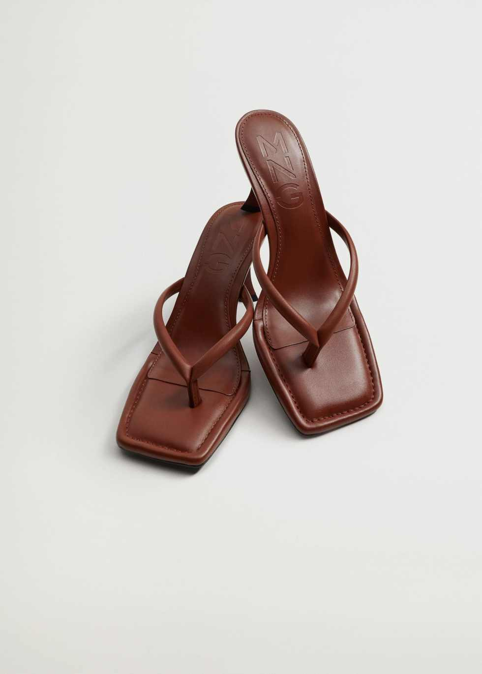 Heel leather sandals - Details of the article 4