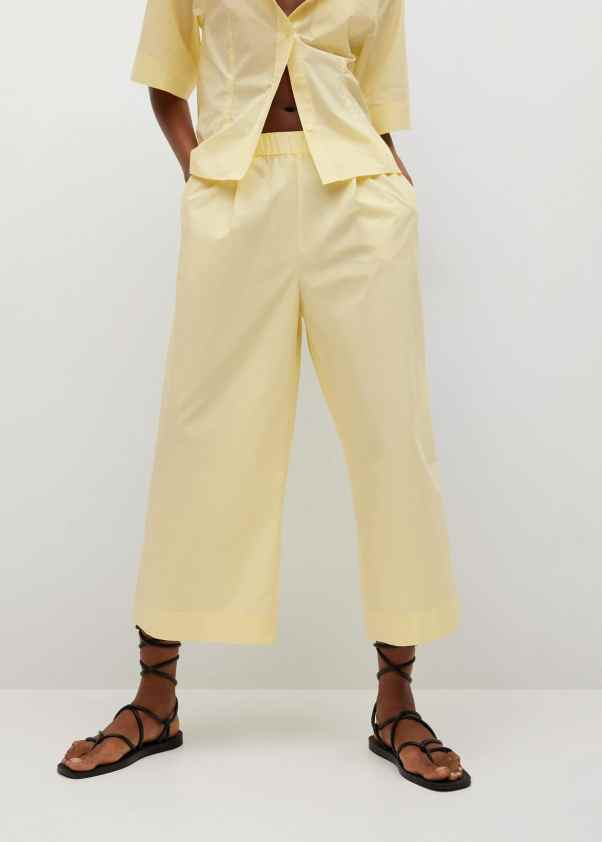 Cotton culotte trousers - Mango