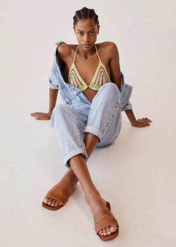 Leather straps sandals - Mango