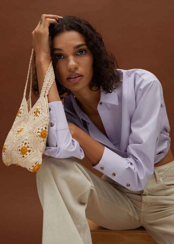 Flowers crochet bag - General plane