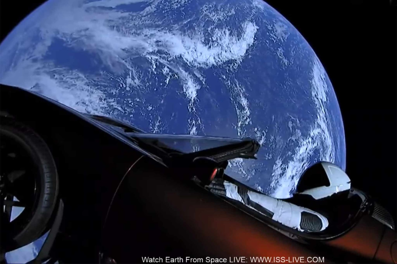 Car In Space Wallpaper Elon Musk There S Now A Tesla Roadster Floating Through Space