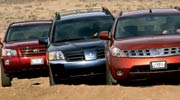 medium resolution of multitaskers 2004 mitsubishi endeavor xls 2003 nissan murano sl awd and 2003 toyota highlander