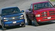 medium resolution of road test 2003 dodge ram 1500 slt hemi vs chevrolet silverado ss