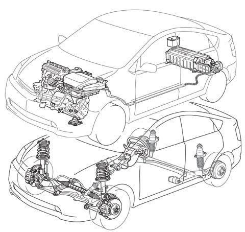 Toyota Electric Drivetrain Diagram, Toyota, Free Engine