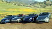 road test 2004 audi tt roadster vs 2004 bmw z4 vs 2004 porsche boxster s vs 2004 nissan 350z [ 1190 x 661 Pixel ]